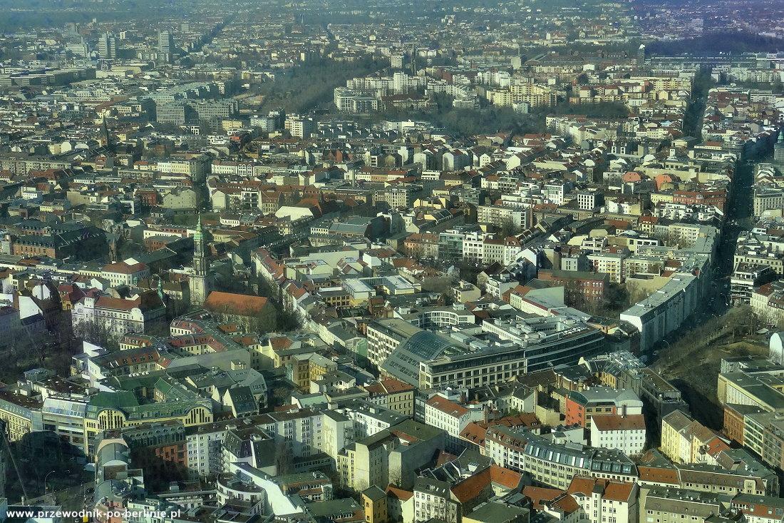 Widok z wieży tv w Berlinie Przewodnik po Berlinie