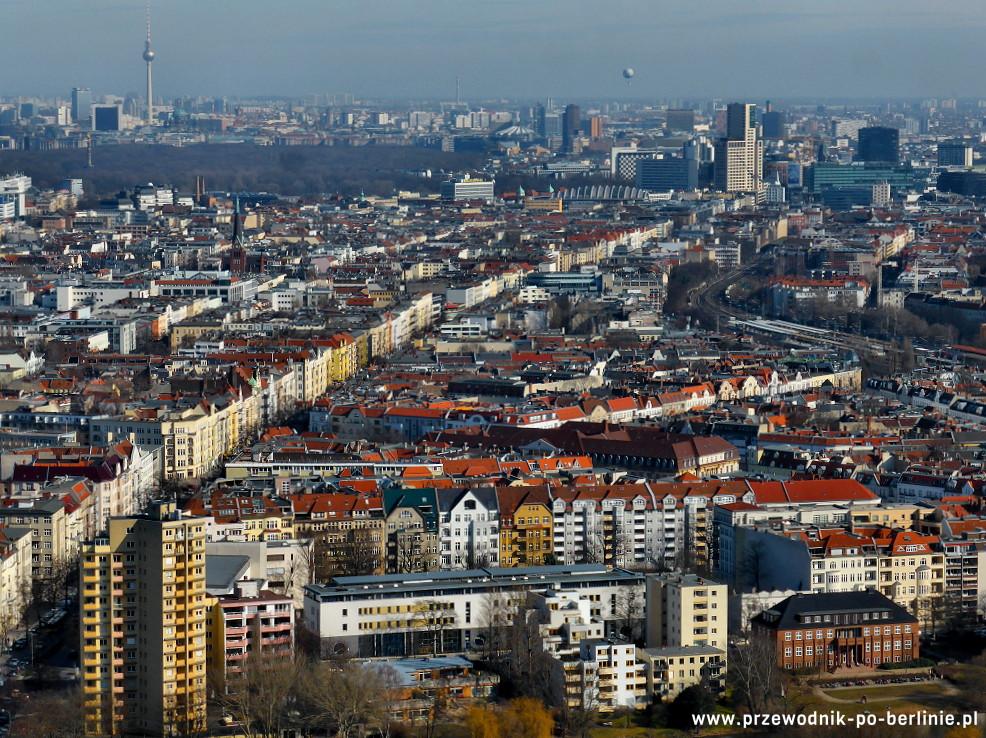 widok z wieży radiowej w berlinie