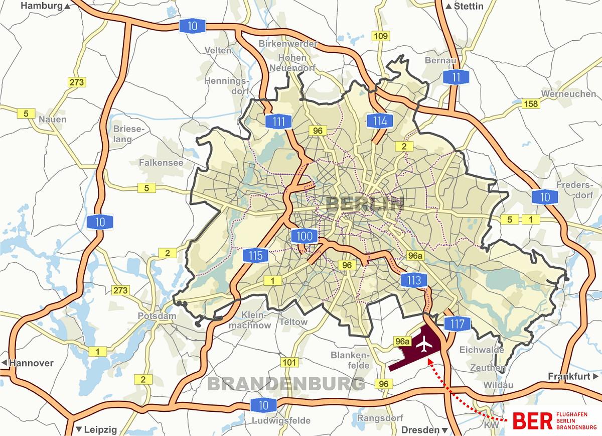 mapa berlin lotnisko